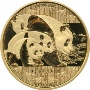 2018 Gold 12oz Panda, San Francisco