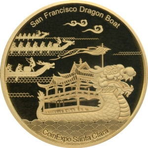 San Francisco 2018 Gold 12oz Panda, dragon boat